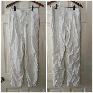 Lululemon Studio Pant Pockets Lined White Size 6